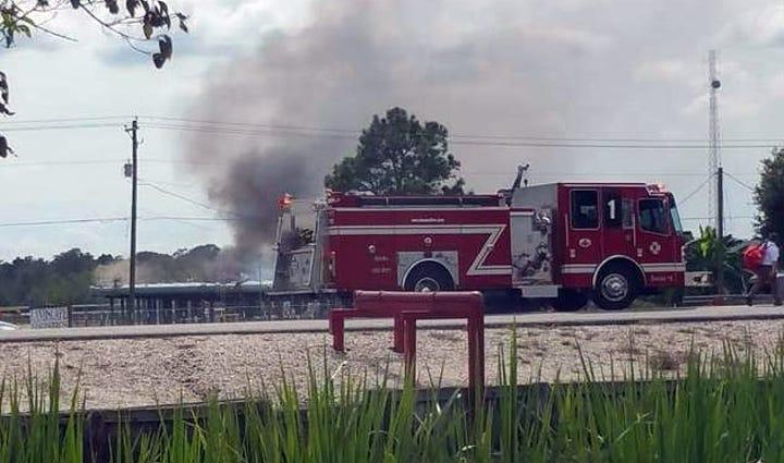 Scene near the gas line explosion.