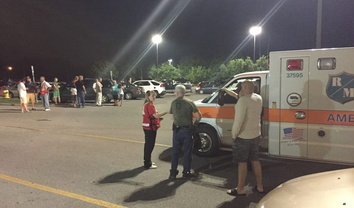 Hundreds evacuated following Blount County train fire