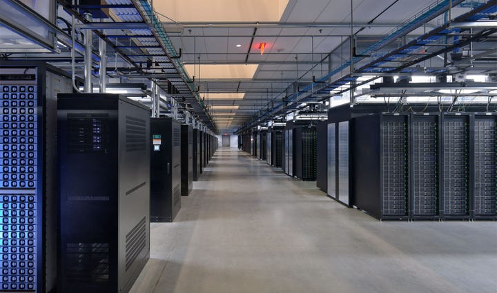 Facebook provided this photo of its data center in