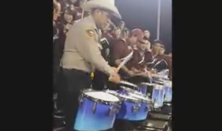 Atascosa Co. Deputy A.J. Mendez played drums with the