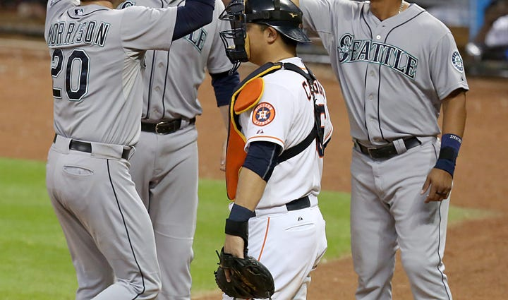 Sep 2, 2015; Houston, TX, USA; Seattle Mariners first