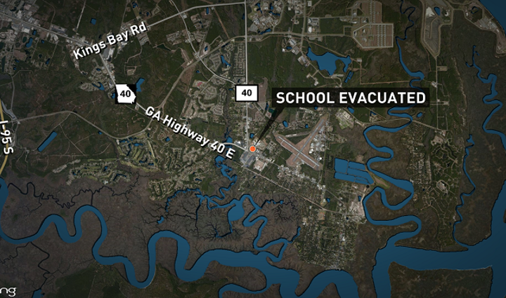 A middle school in Georgia was evacuated.