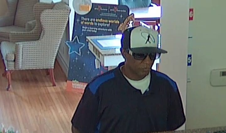 Police are searching for a bank robber.