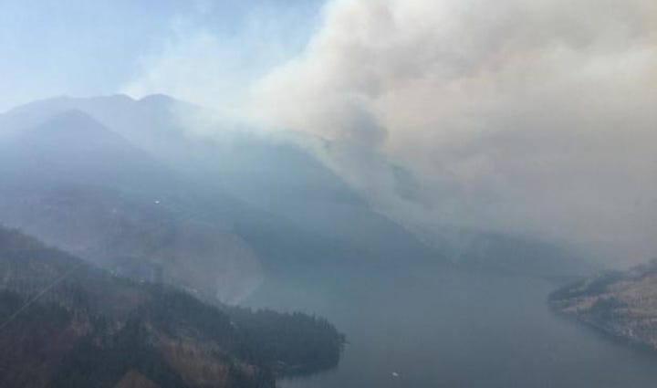 Wolverine Creek fire.