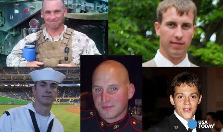 Five service members were killed in the Chattanooga