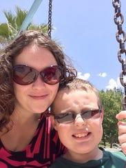 Christine Bradbury, pictured with her nephew, was killed