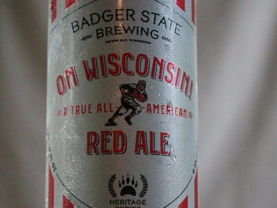 On Wisconsin Red Ale, amber ale, Badger State Brewing