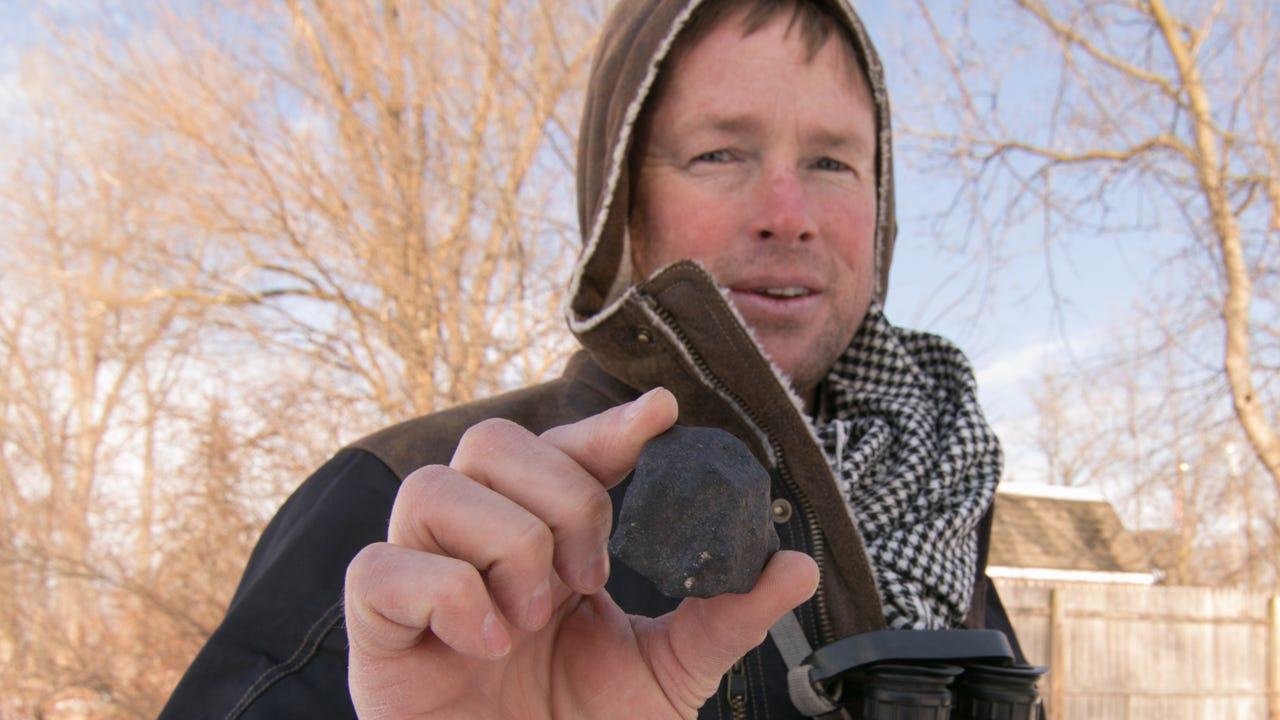 International meteorite hunter Robert Ward talks about the three samples he found on a lake in Hamburg Township.