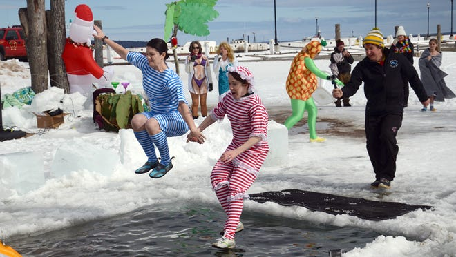 A Polar Plunge was held at Bayfield's WinterFEST on Saturday, March 7, 2015.