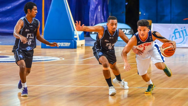 The Guam U18 men's basketball team opened the FIBA U18 Oceania Championship with a 64-51 victory over the host nation Fiji.