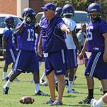 Jay Thomas welcomes his NSU team to campus today.
