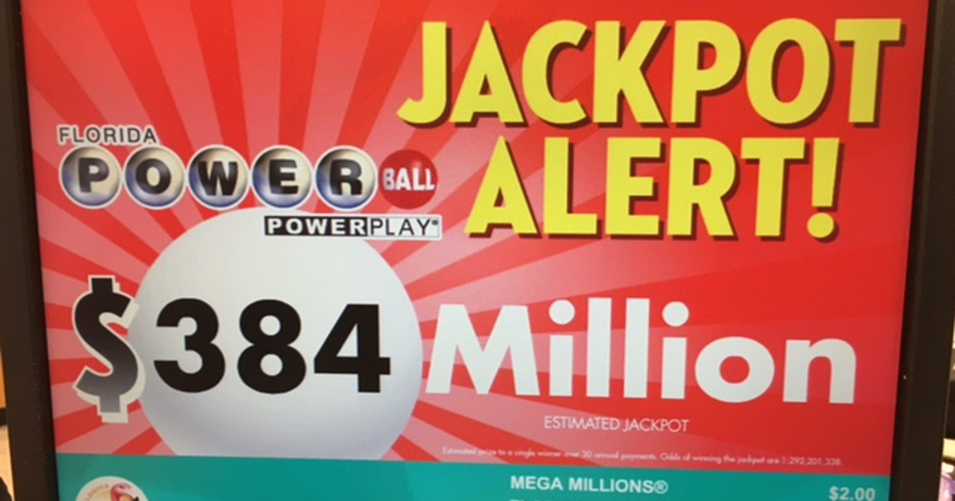The next Powerball jackpot is worth $440 million