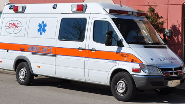 File image of an Emergency Mobile Health Care ambulance.
