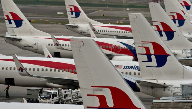 Malaysia Airlines planes at Kuala Lumpur International Airport on June 17, 2014.