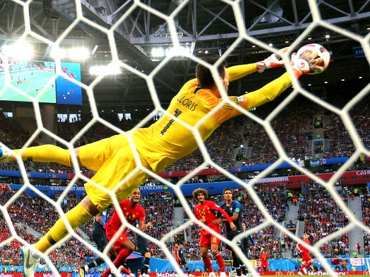 France goalkeeper Hugo Lloris of France makes a save