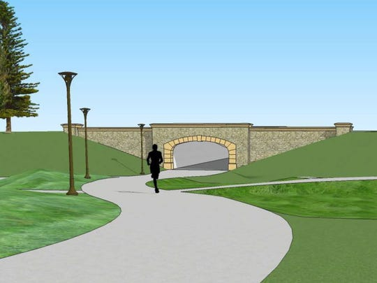 The passageway will go under Fleur Drive and connect to Gray's Lake. It's scheduled for construction in 2019.