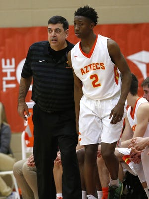 Corona del Sol's Saben Lee (right) was named to Richard Obert's All-Defense team following his 2015-16 regular season as perhaps the best on-the-dribble defender.