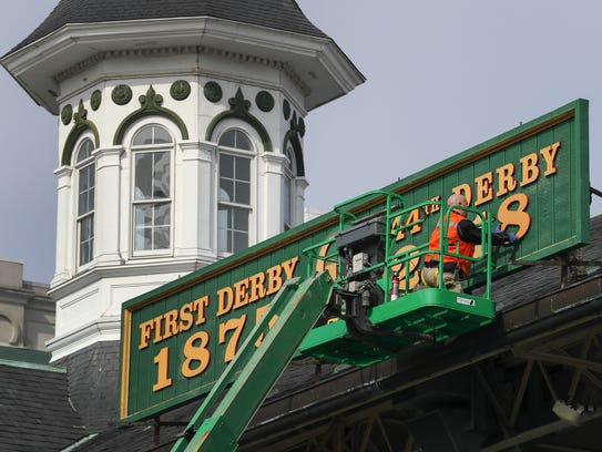 The sign above the grandstands was changed on Friday