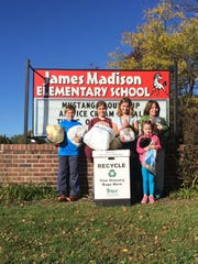 Students at Madison Elementary School aim to collect more than 500 pounds of recycled plastic film products this year.