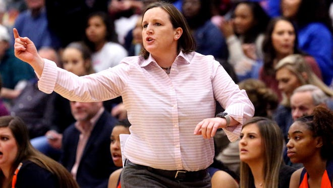 Former Blackman girls basketball coach Jessica Jackson is shown during a recent game. Jackson resigned to take an administrative position at Blackman Middle.
