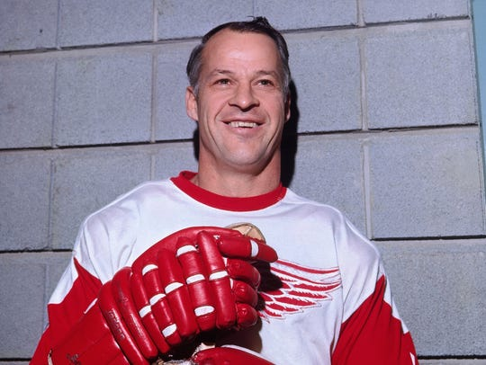 Gordie Howe won four Stanley Cups with the Red Wings in the 1950s.