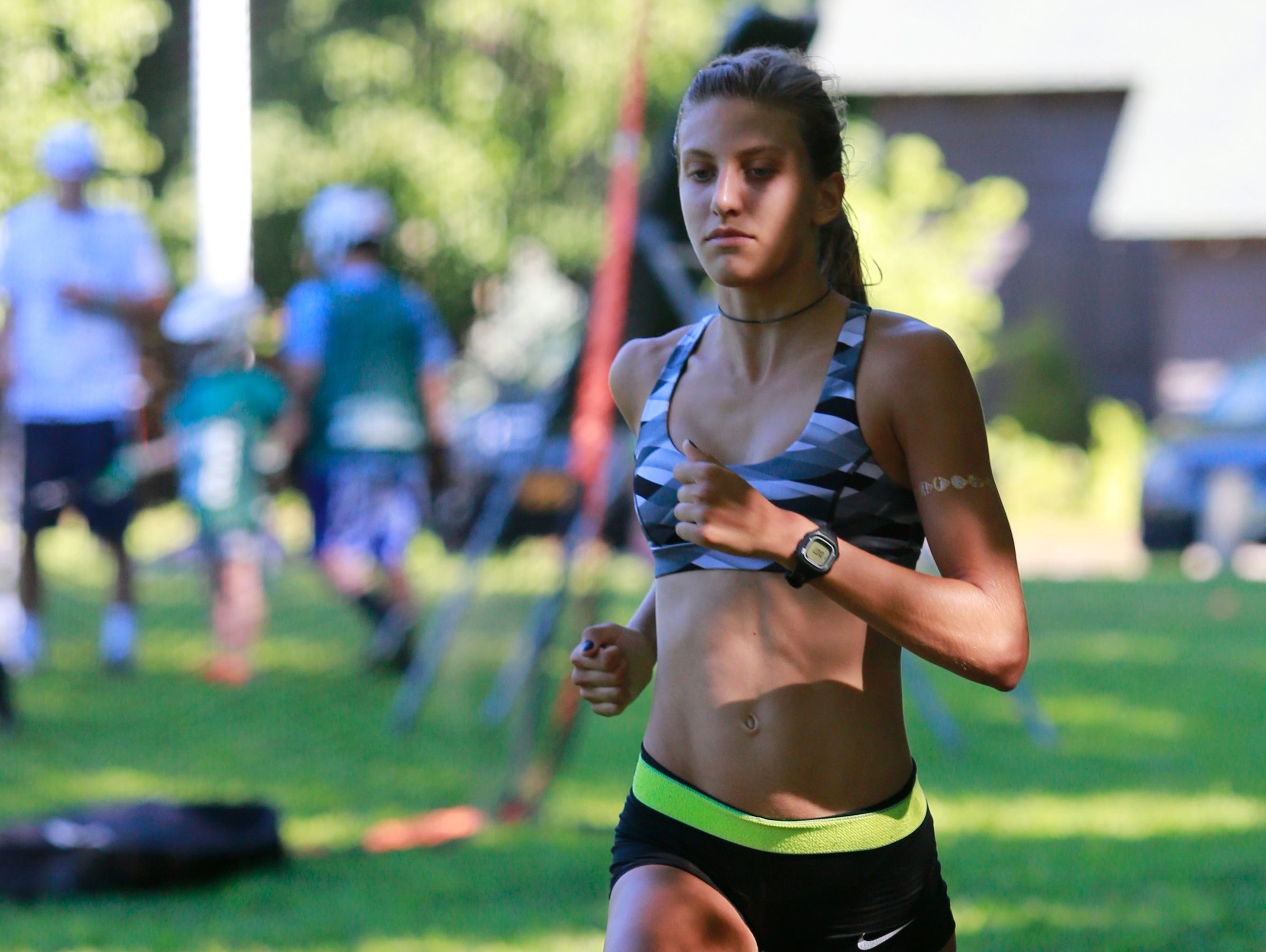 Bronxville Kate Ryan trains with the Cross Country team at Scout Field in Bronxville on Aug. 23, 2016.