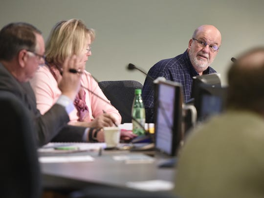 St. Cloud City Council members  Jeff Goerger, right, Steve Laraway and Carol Lewis are shown during a 2016 City Council meeting at St. Cloud City Hall.