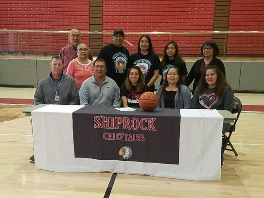 Shiprock's Kylie McKinley officially joined Little