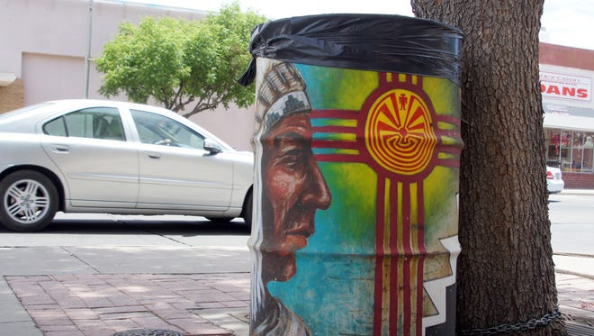 Trash barrels around the city were provided by Keep Luna County Beautiful and decorated by citizens.