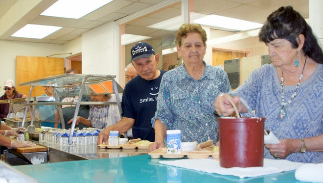 Served hot lunches in the dining room is one of the largest units of service provided at the Deming Senior Citizen's Center, 800 S. Granite St. The center attracts an average of 132 clients during the center's lunch hour. Another 160 are provided home delivered meals five days a week.