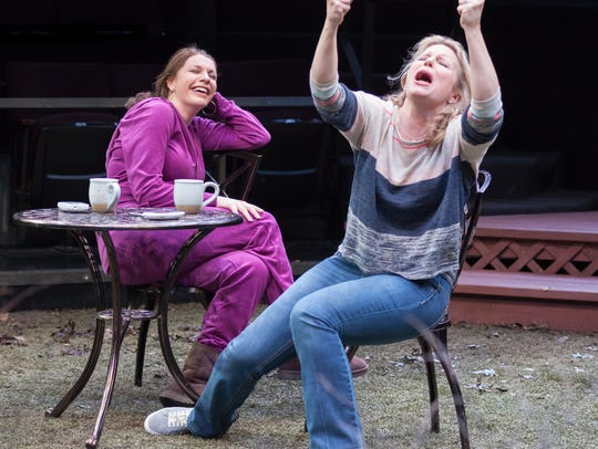 """Andrea Syglowski and Jessica Dickey in """"Cry It Out"""""""