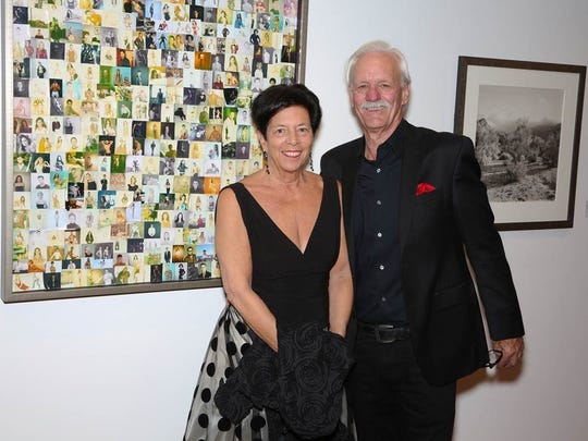 Presenting gold sponsors Ann Sheffer and Bill Scheffler.