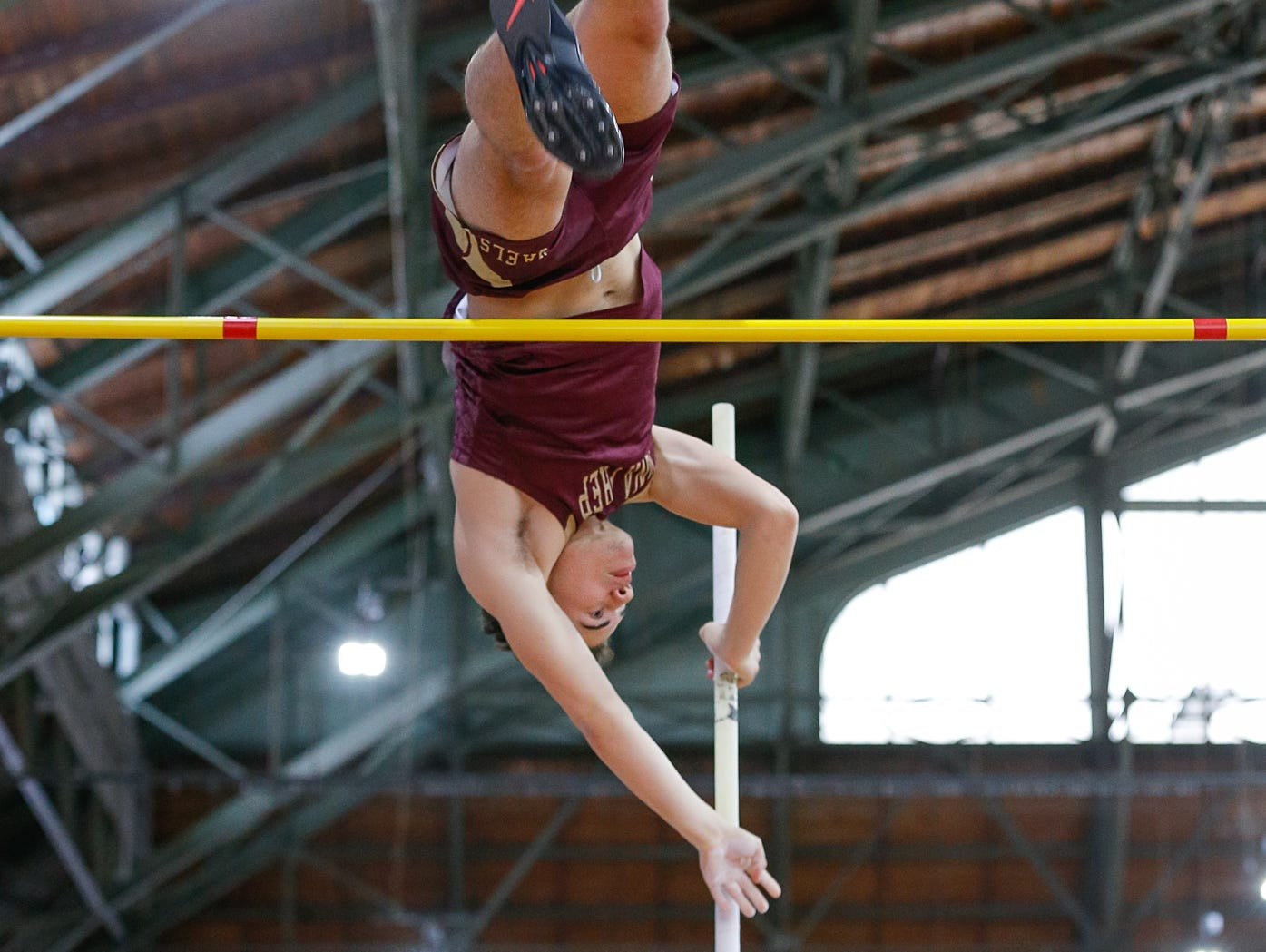 Iona Prep's Ryan Herrera-Murphy won a state championship in the pole vault in March.
