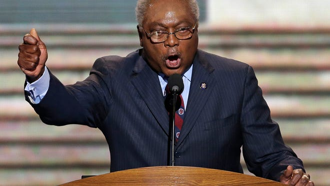 Rep. Jim Clyburn of South Carolina addresses the Democratic National Convention in Charlotte, N.C., on Sept. 6, 2012.