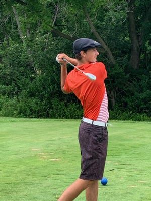 New London High School senior Clayton Phillips recently carded rounds of 66 and 68 at Burlington Golf Club.