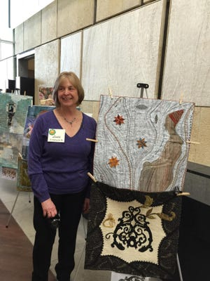 Linda Vizi of Moorestown's quilt is on the top and Delia Kane's is on the bottom. Both are former FBI agents.