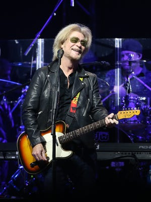 Daryl Hall plays with John Oates (not pictured) in concert at Gila River Arena in Glendale, Ariz. on July 17, 2017.