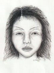 A sketch of Ventura County Jane Doe, who was found