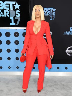 Cardi B attends the 2017 BET Awards at Microsoft Theater