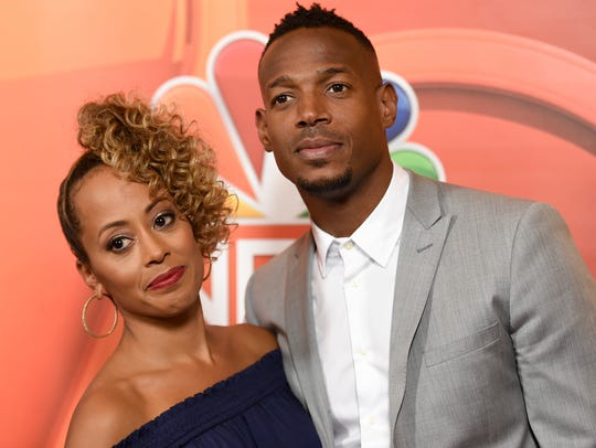 Essence Atkins and Marlon Wayans attend the NBC Television