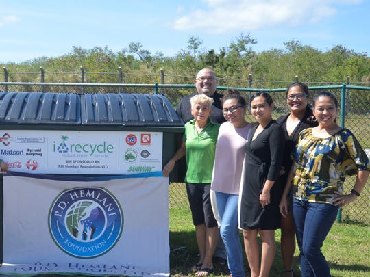 i*recycle presents a new recycling bin to Tiyan High