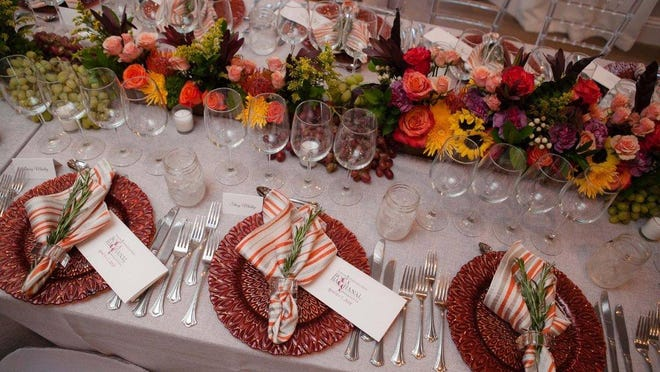 Boca Bacchanal: A table is set for one of the annual festival's Vintner Dinners, which are held at private homes.