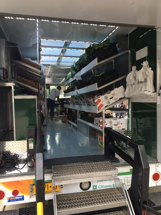 A view of the inside of the Curbside Market's new third vehicle.