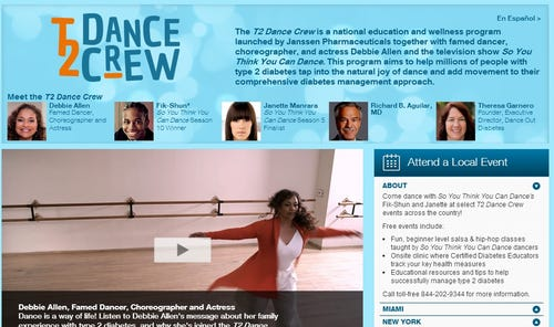 The T2 Dance Crew website, www.diabeticconnect.com/t2dancecrew. (Photo: T2 Dance Crew)