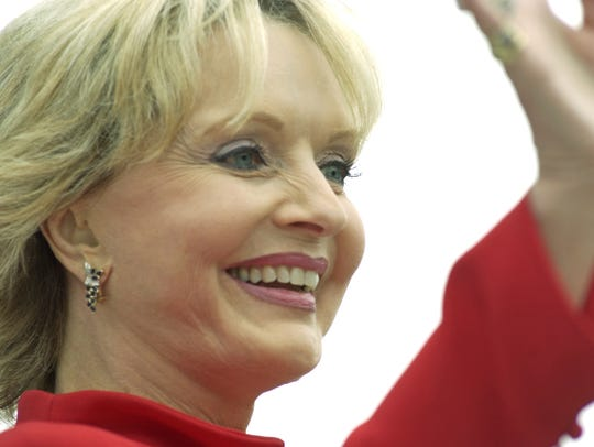 Florence Henderson at the Indianapolis Motor Speedway,