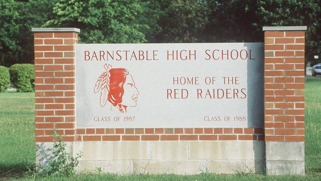 """Barnstable High School will no longer be the """"Home of the Red Raiders,"""" as the School Committee has voted to retire the mascot."""