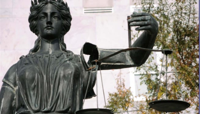 This statue of Lady Justice now stands outside the Augusta Judicial Center and John H. Ruffin Courthouse. The Augusta Judicial Circuit, composed of Richmond, Columbia and Burke counties is at a crossroads as Columbia County seeks to form its own, the Columbia Judicial Circuit.