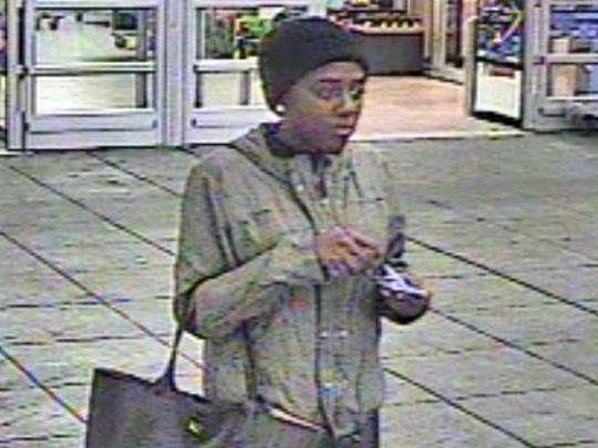 Police say this woman is a home theater theft suspect at the Springettsbury Township Walmart.