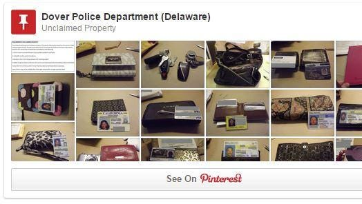 Dover Police Department on Monday launched its new, virtual lost-&-found on Pinterest.