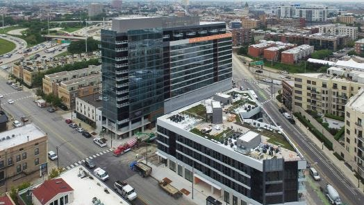 A view of the Kenect Chicago apartment community, which Akara Partners also developed.